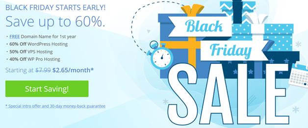 BlueHost外贸虚拟主机黑色星期五四折优惠 老牌主机商是否还喜欢