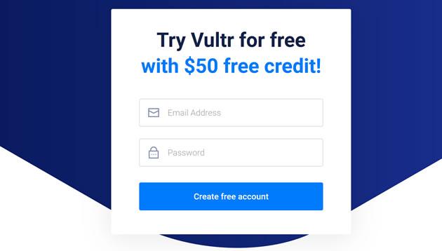 2019年Vultr黑色星期五新用户注册赠送50美金活动