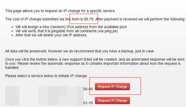 搬瓦工如何更换IP地址(如今只支持付费购买IP地址)